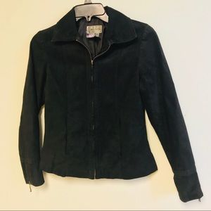 Matte Black 100% Leather jacket size PP